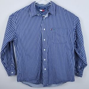Tommy Jean's Stripe Shirt Button Front Long Sleeve